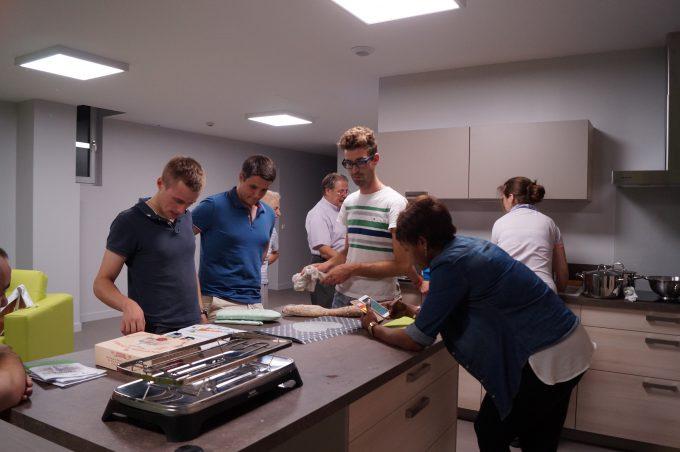 préparation du repas en communauté